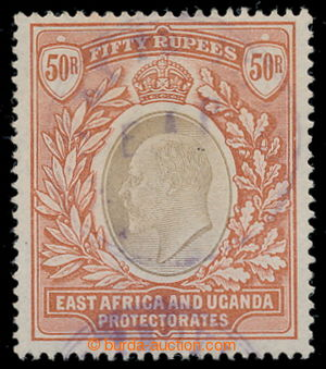 198137 - 1903 SG.16, Edward VII., sought highest value 50Rp grey / re