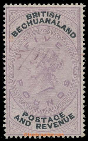 198140 - 1888 SG.21, Viktorie 5£ fialová / černá, hledaná koncov