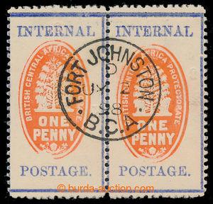 198143 - 1898 SG.57a, 57ac, 2-páska Znak 1P, zoubkování 12 s kontroln