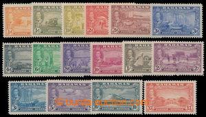 198180 - 1948 SG.178-193, Jiří VI. - 300. výročí; kompletní dlouhá sé