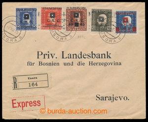 198190 - 1919 R+Ex-dopis do Sarajeva, vyfr. přetiskovými zn. Mi.83, 8
