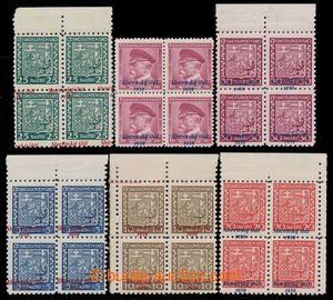 198240 - 1939 comp. of 6 various values in blocks of four, Alb.2, 3,
