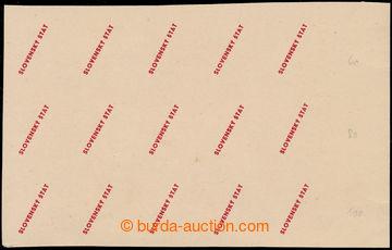198241 - 1939 ZT  zkusmý tisk přetisku v červené barvě pro hodnoty 50