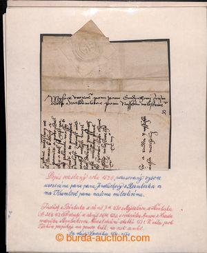 198294 - 1526-1679 [SBÍRKY]   sestava 5ks šlechtických dopisů ze 16.