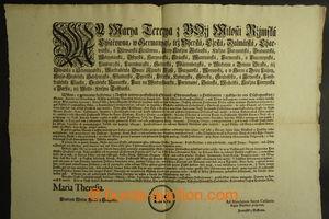 198295 - 1750 [SBÍRKY]  HABSBURSKÁ MONARCHIE / POŠTOVNICTVÍ  patent M