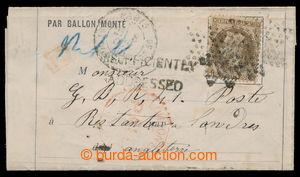 198301 - 1870 PAR BALLON MONTÉ - balonový dopis z obležené Paříže, vy