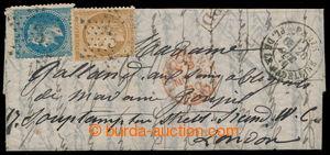 198302 - 1870 PAR BALLON MONTÉ - balonový dopis z obležené Paříže, GA