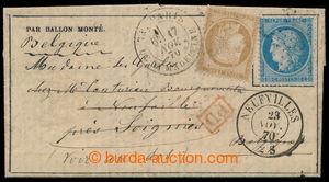 198307 - 1870 PAR BALLON MONTÉ / noviny Gazette des Absents No. 8 z o