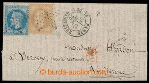 198308 - 1870 PAR BALLON MONTÉ - balonový dopis z obležené Paříže, vy