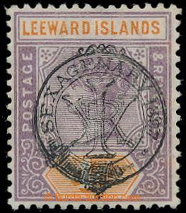 198310 - 1897 SG.12a, Viktorie 4P matně fialová / oranžová s přetiske