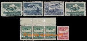 198355 - 1930 sestava 7ks s ŘZ 12¼, Pof.L7A /krajová 3-páska/, L