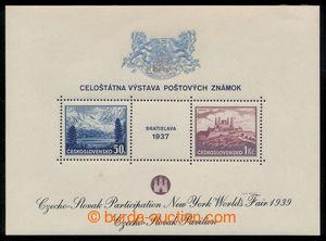 198367 - 1939 AS3f, aršík Bratislava 1937, výstava NY 1939, černý tex
