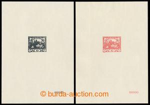 198383 - 1968 PT5Ab + 5Bb, Hradčany 10h v černé a v červené barvě, ob