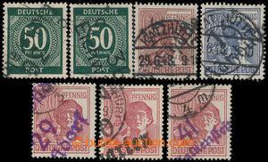 198414 - 1948 PADĚLKY  Mi.179, A179, 180, It, sestava 7ks německých z