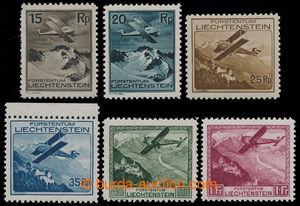 198417 - 1930 Mi.108-113, Letecké 15Rp - 1Fr; kompletní oblíbená séri