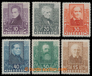 198421 - 1931 Mi.524-529, Básníci 10g-1S; kompletní série, pěkn�