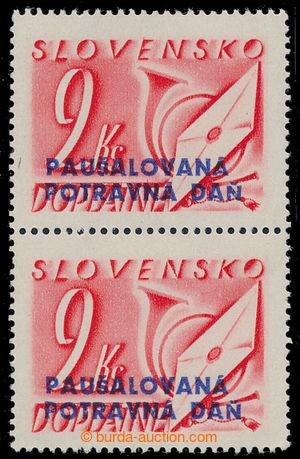 198440 - 1943 Sy.PD4, hodnota 2Ks ve svislé 2-pásce; svěží, kat. 70€