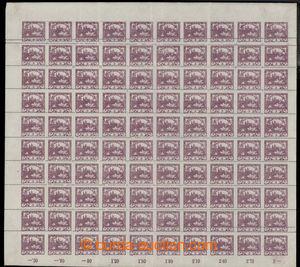 198445 -  Pof.2D, hodnota 3h fialová, kompletní 100ks PA s ministersk
