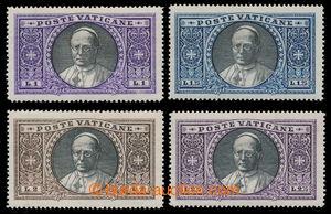 198525 - 1933 Mi.30-33, Pius IX. 1L - 2.75L; svěží, kat. 390€