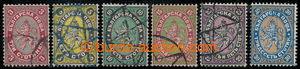 198527 - 1881 Mi.6-11, Znak 3St-30St; kompletní série, kat. 180€