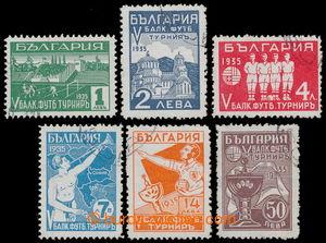 198528 - 1935 Mi.274-279, 5. balkánské mistrovství v kopané 1L - 50L;