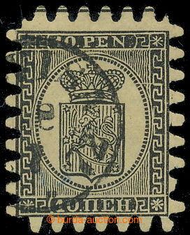 198531 - 1866 Mi.7By, Znak 10Pen černá, obyčejný papír; pěkný kus, ka