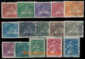 198540 - 1924 Mi.159-173, 50. let UPU; kompletní raz. série, pěkné ot