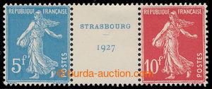 198636 - 1927 Mi.218-219, Výstava Štrasburk 1927 5Fr + 10Fr, meziarší