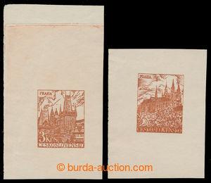 198644 - 1950 NEPŘIJATÝ NÁVRH  / zkusmé tisky dvou nepřijatých návrhů