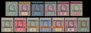 198690 - 1908-1910 SG.3-8, 10-16, Edvard VII. - FIJI s přetisky NEW H