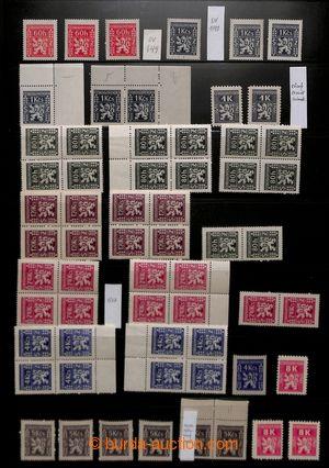 198803 - 1945-1947 Pof.SL1-15, Služební I a II, sestava jednotlivých