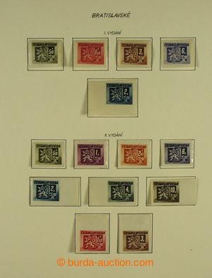 198807 - 1945-1980 [SBÍRKY]  GENERÁLNÍ / neúplná sbírka na listech ve