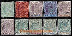 198984 - 1904 SG.44-63, Edvard VII., 1/2-10Sh, nominálně kompletní sé