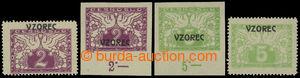 199041 - 1919 Pof.S1vz-S2vz, Spěšné 2h a 5h s přetiskem VZOREC, 2 kom