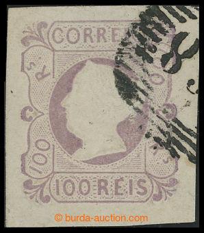 199100 - 1853 Mi.4, Maria II. 100R fialová, číslicové razítko; velmi