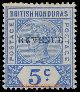 199106 - 1899 SG.66b, Viktorie 5C ultramarínová, přetisk REVENUE; def