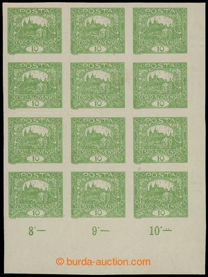 199224 -  Pof.6N, 10h zelená, pravý dolní rohový NEZOUBKOVANÝ 12-BLOK