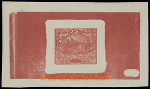 199226 -  PLATE PROOF  plate proof in red color, changed 2. design of