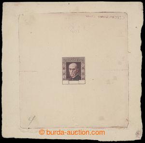 199243 - 1925 ZT  Rytina, tzv. Americký zkusmý tisk, otisk rytiny bez