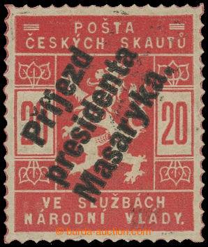 199261 - 1918 Pof.SK4, Příjezd presidenta Masaryka 20h červená; svěží
