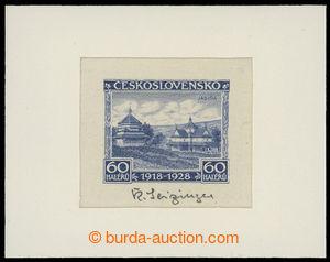 199275 - 1928 ZT  Pof.236, Jubilejní 60h, zkusmý tisk v odlišné modré
