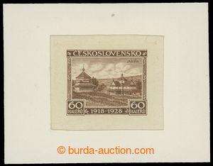 199276 - 1928 ZT  Pof.236, Jubilejní 60h, zkusmý tisk v odlišné hnědé