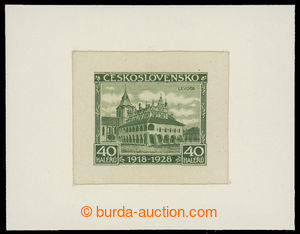 199279 - 1928 ZT  Pof.234, Jubilejní 40h, zkusmý tisk v odlišné zelen
