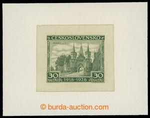 199280 - 1928 PLATE PROOF  Pof.233, Jubilee 30h, plate proof in diffe