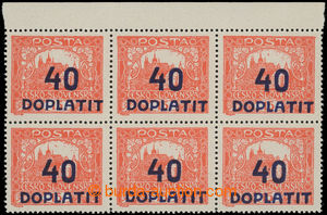 199305 - 1922 Pof.DL30B joined bar types, Postage Due - overprint iss