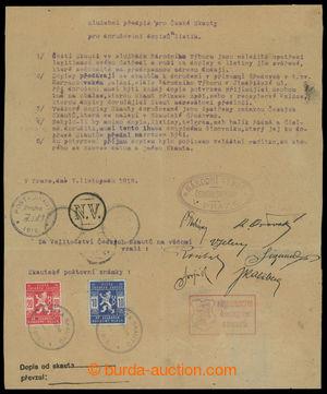 199337 - 1918 SLUŽEBNÍ PŘEDPIS PRO ČESKÉ SKAUTY PRO DORUČOVÁNÍ DOPISŮ