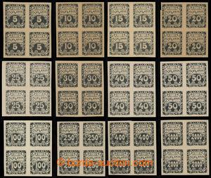 199356 - 1919 ZT  Ornament, hodnoty 5h - 2000h, chybí 500h a 1000h, s