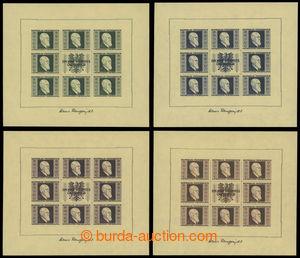199399 - 1946 Mi.Klb.772B-775B, aršíky Renner 1S+1S - 5S+5S, kompletn