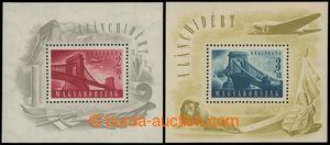 199406 - 1948 Mi.Bl.12+Bl.13, aršíky Mosty; bezvadná kvalita, kat. 20