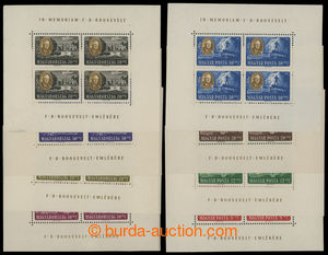 199413 - 1947 Mi.985-992Klb., Roosevelt, kompletní sestava PL; 1x dro